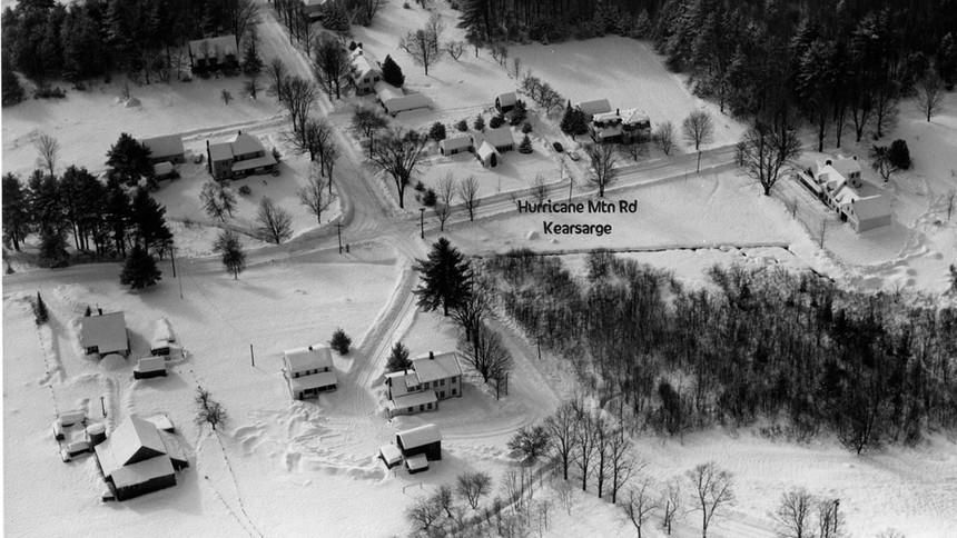 Kearsarge - Jct Hurricane Mtn Rd - Tibbett's house lower center - Gordon Clapp grew up in this area