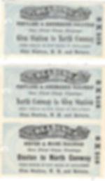 train tickets northconwayToBoston and No