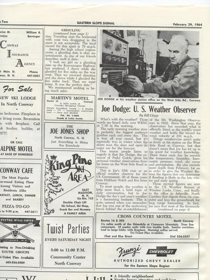 1964_February Joe Dodge weather observer