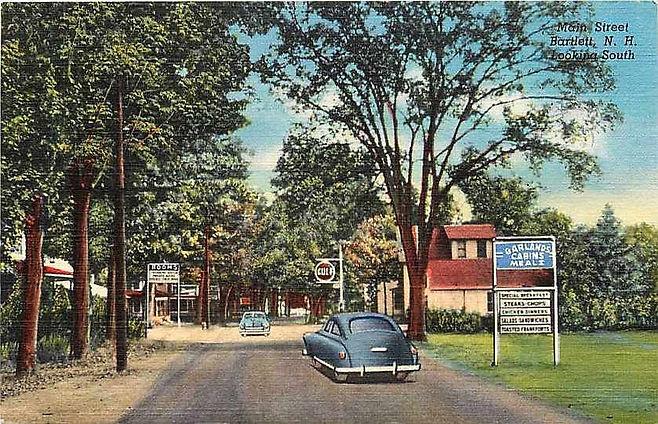 main st village 1948 at Garlands Restaur