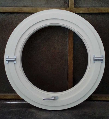 finestra rotonda legno laccata apertura oblo