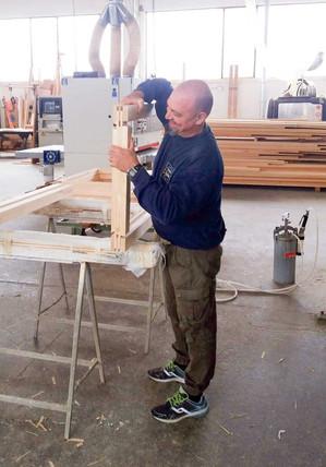 asseblaggio manuale finestra legno