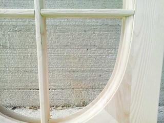 telaietto finestra grezza massiccio ovale