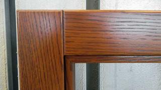sezione di finestra legno massello rovere
