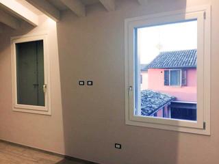 finestre legno laccate bianche moderne
