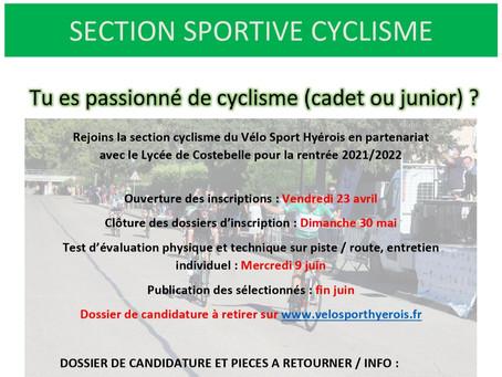 Section cyclisme 2021/2022