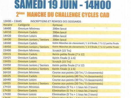 Rendez-vous pour la 2ème manche du Challenge Cycles CAD !