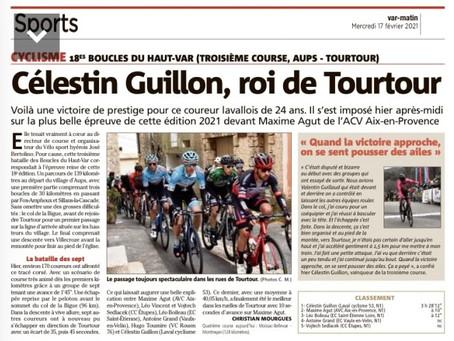 CELESTIN GUILLON VAINQUEUR A TOURTOUR !