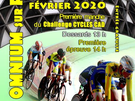 Omnium piste - Samedi 22 Février - 1ère manche challenge Cycles CAD