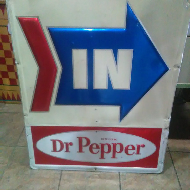 1960's Dr. Pepper IN Sign