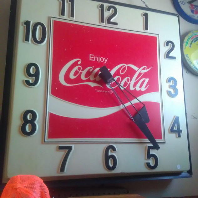 Large Coca-Cola Clock