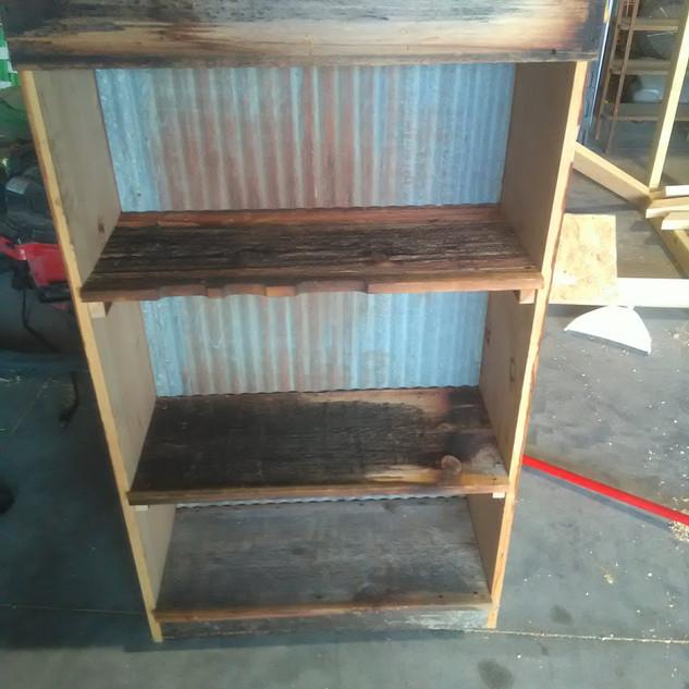4.5 ft Tall Barnwood Shelf