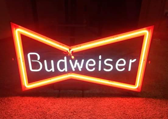 Budweiser Bowtie Neon