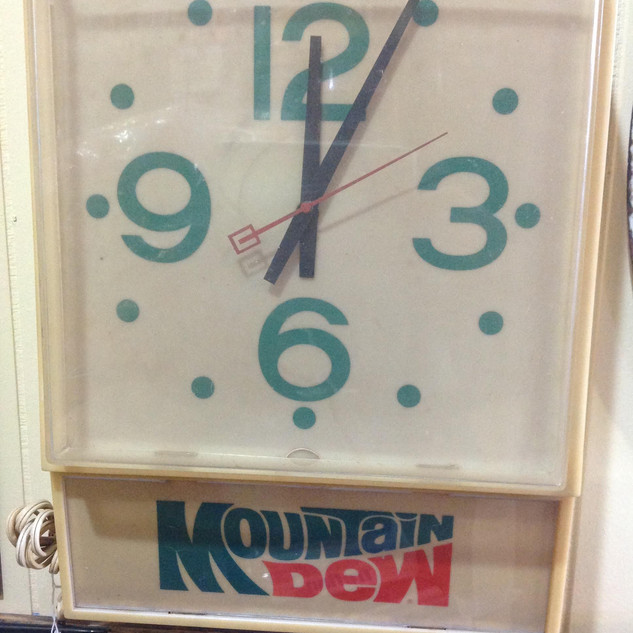 1970's Mountain Dew Clock