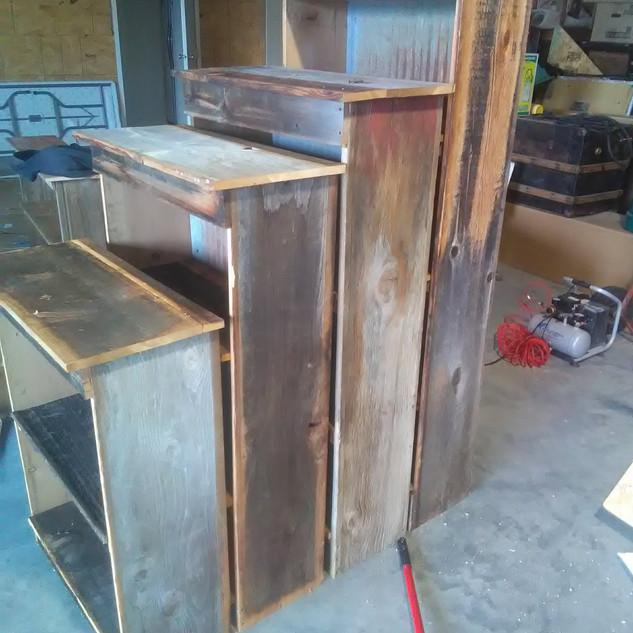 Barnwood and Corrugated Tin Shelves