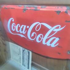 Porcelain Coca-Cola sign