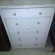 Solid Oak Dresser with Glass Knobs