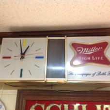1960's Miller High Life Light-up Clock