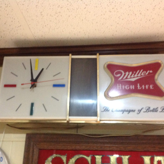 1960's Miller High Life Light-up Clock