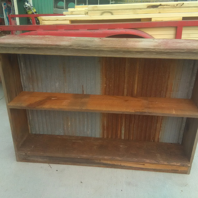33inch Tall and 48in Wide Barnwood Shelf