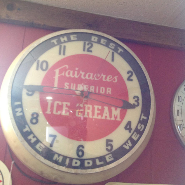 1950's Fairacres Ice Cream Clock