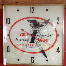 1960's Independent Insurance company PAM Clock