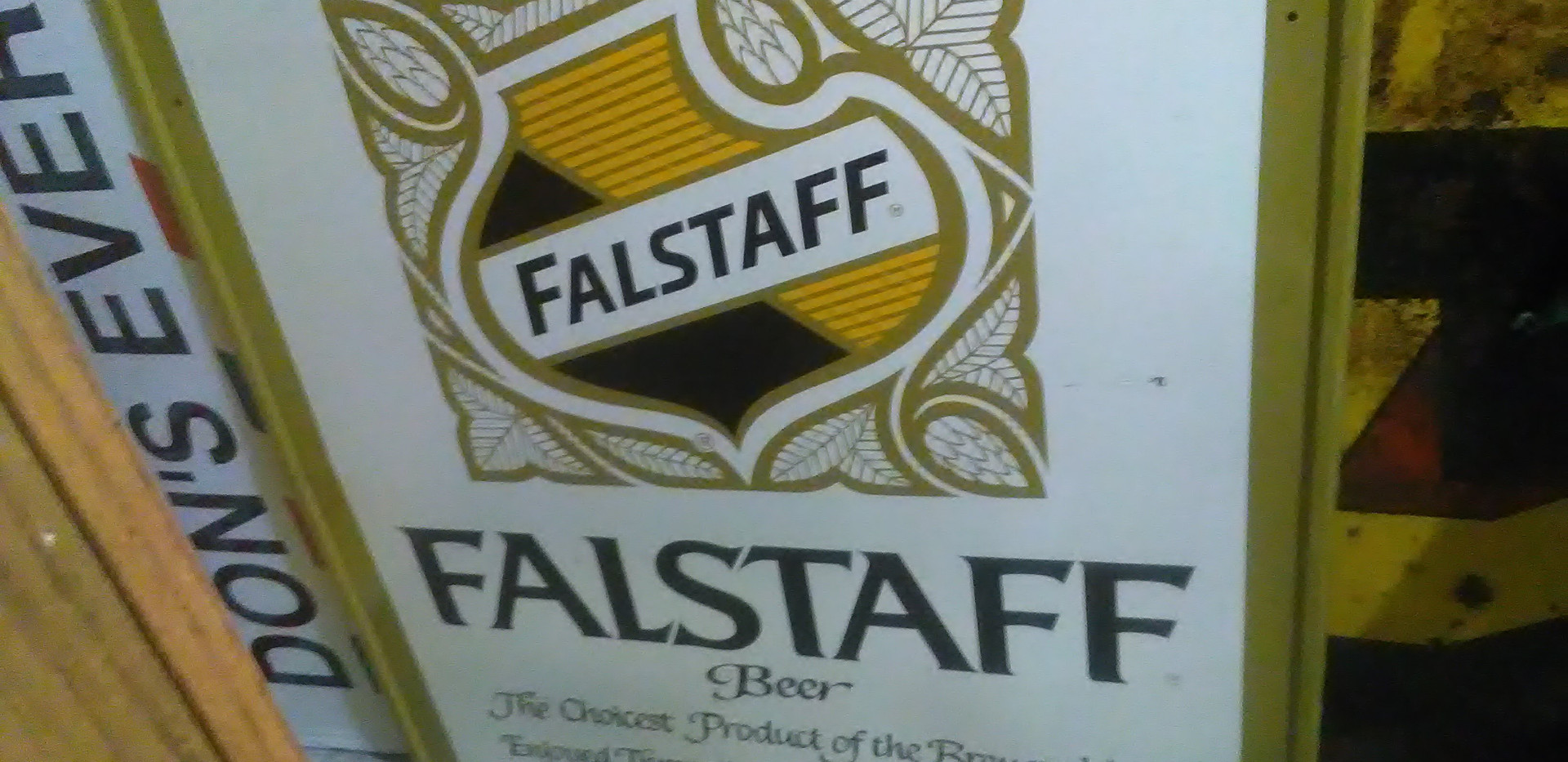 Large Metal Falstaff Beer Sign