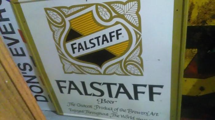 Large Metal Falstaff Beer Sign