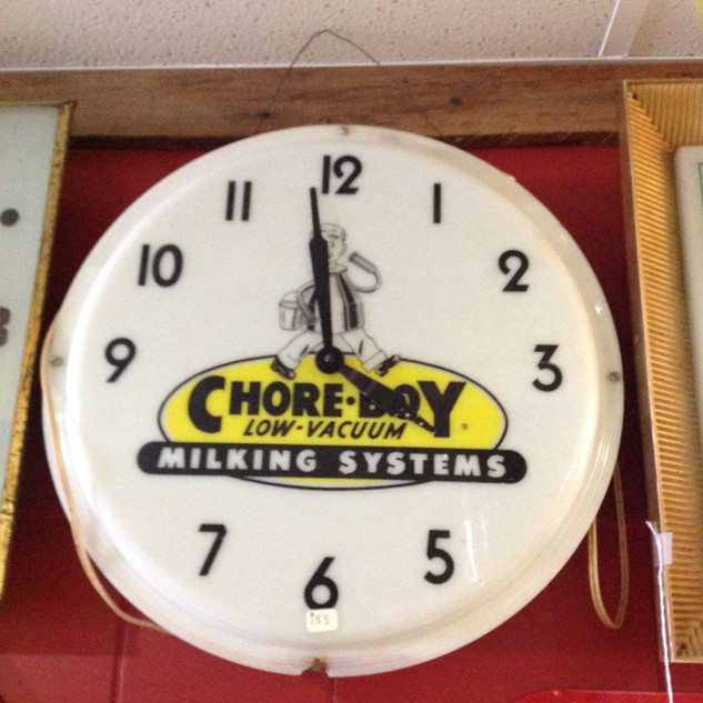 Chore-Boy Milking Systems Clock