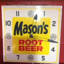 Mason's Root Beer Clock