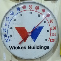 Wickes Buildings Thermometer