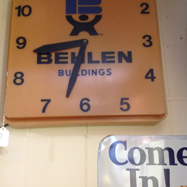 1970's Behlens Buildings Clock