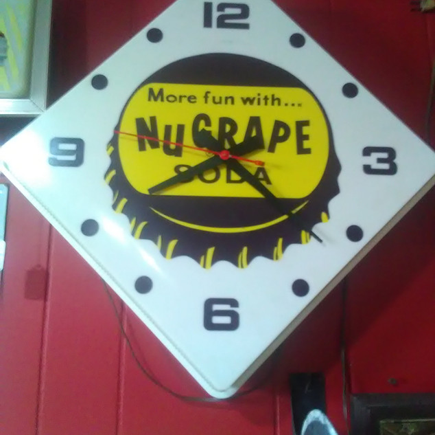 New Grape Soda Clock (sold)