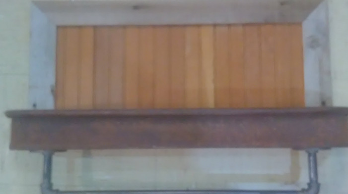 Rustic Wagon Shelf
