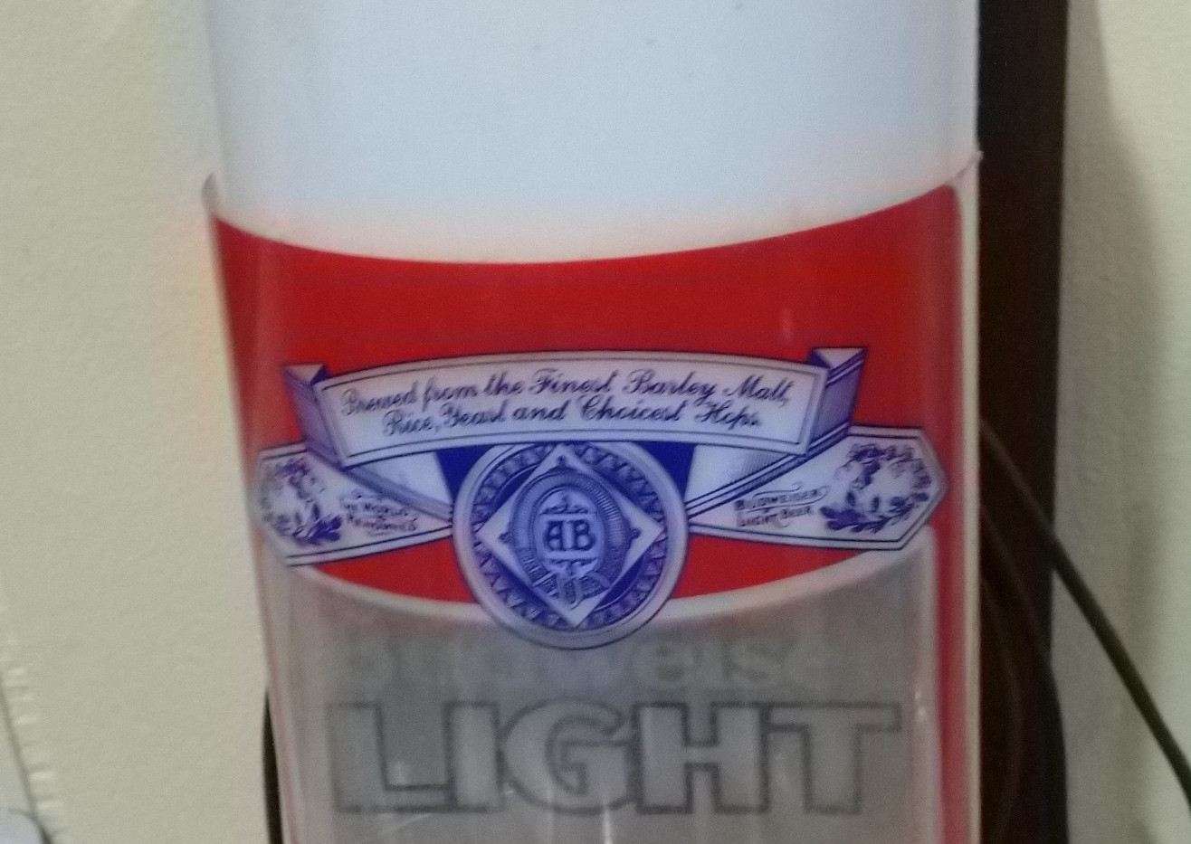 Budweiser Light Wall Sconce Light up
