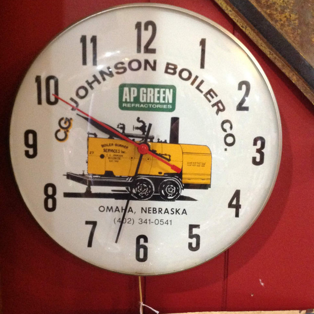 1970's CG Johnson's Boiler Co. Clock