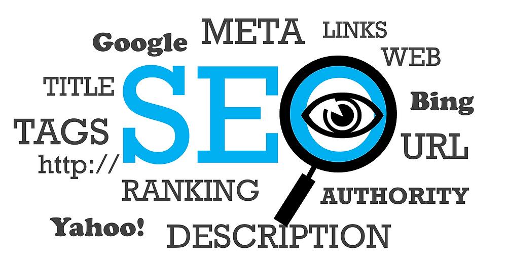 SEO beschreibende Begriffe, wie Deskription, META, TAG, Google, WEB, URL exc.