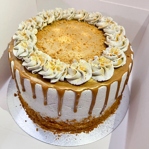 """Lotus Biscoff 8"""" Cake"""
