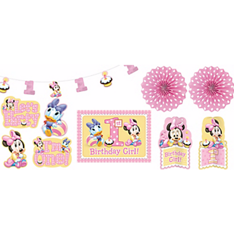 Fantastic 1St Birthday Minnie Mouse Room Decorating Kit 10Pc Download Free Architecture Designs Intelgarnamadebymaigaardcom