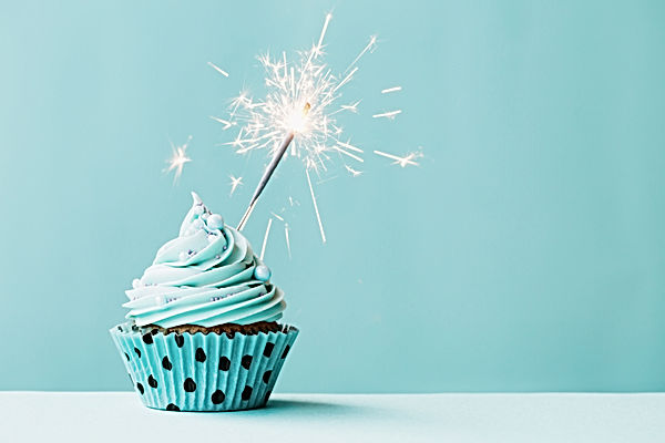 sparkler on cupcake