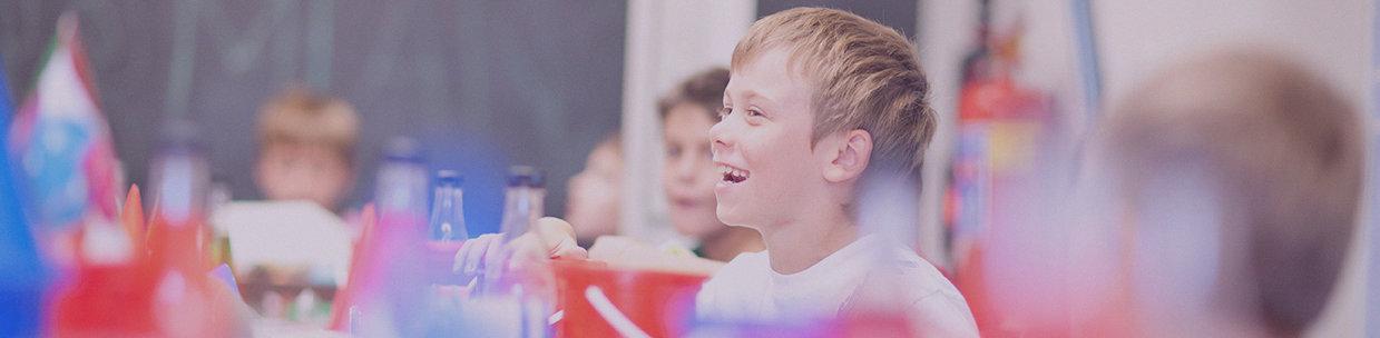 Boy in language class