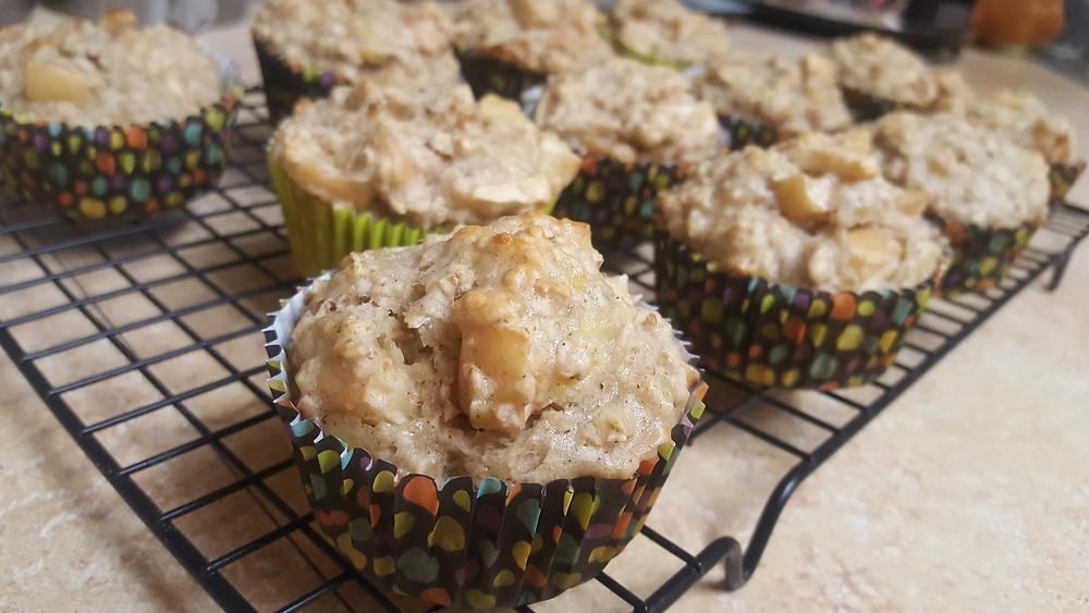 Banana Apple Oatmeal Muffins
