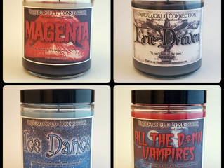 Gothic Cult Film-inspired Candles!