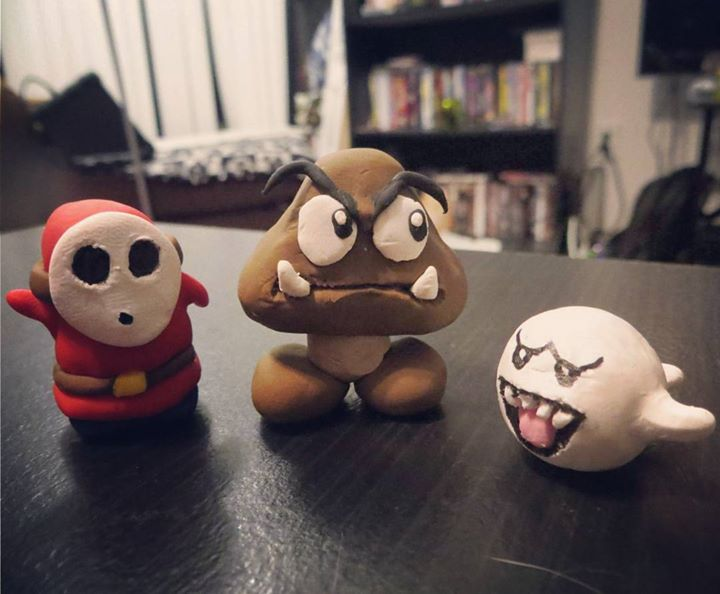 Clay Super Mario Enemies