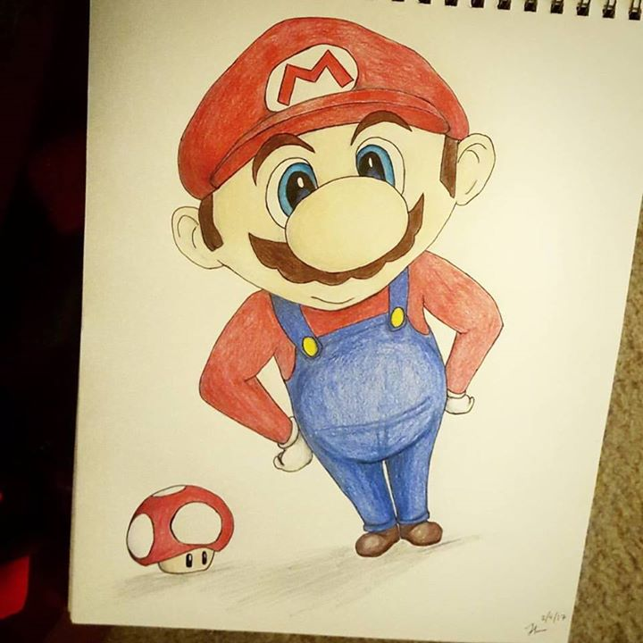 Cartoon Mario 🍄