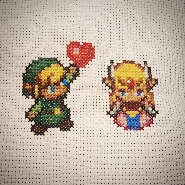 Zelda/Link cross stitch