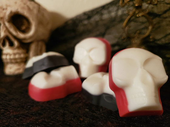 SCENTED SKULL WAX MELTS