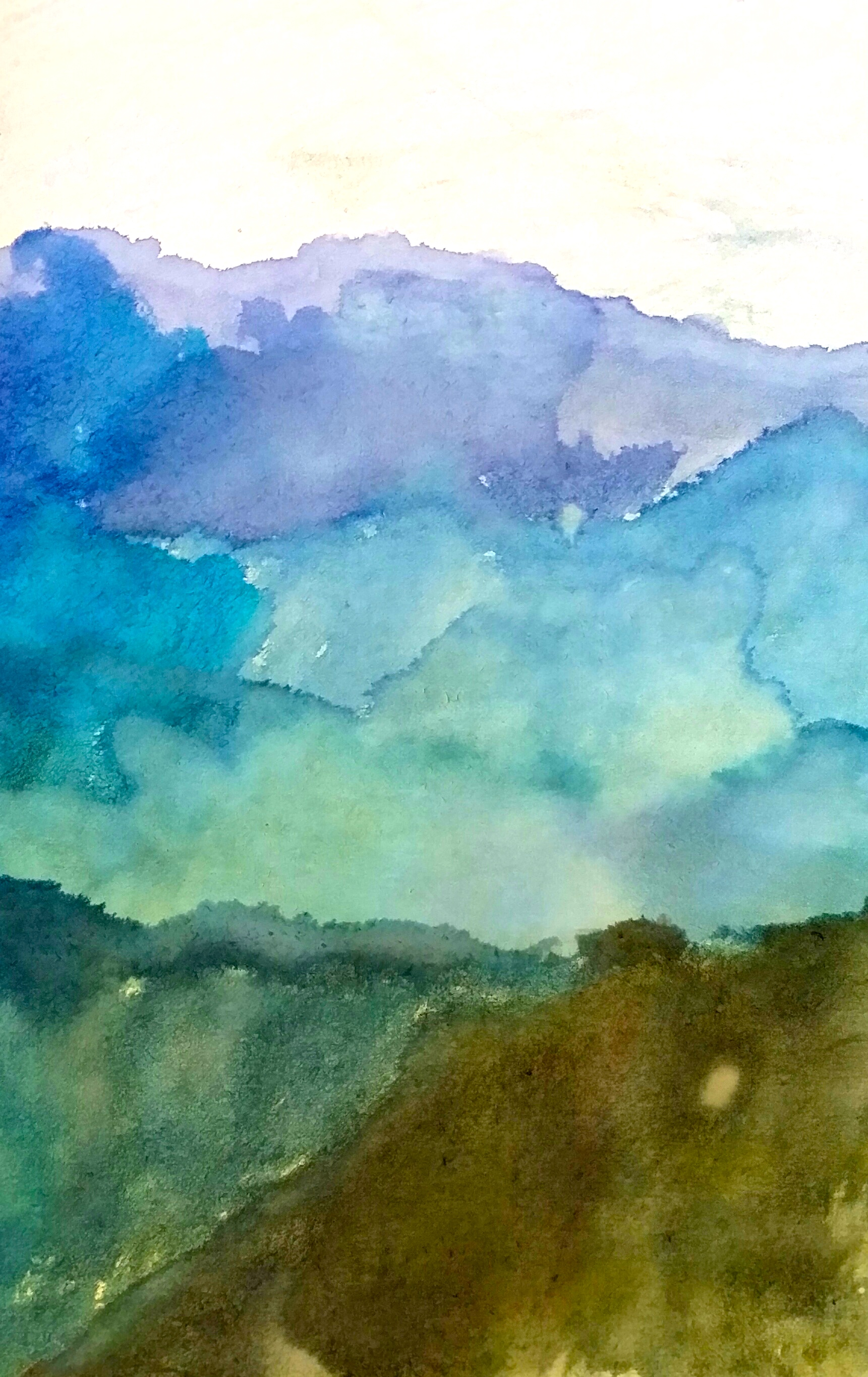 Lanscape watercolor by Max age 10