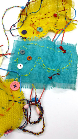 Sewing by year 1 students