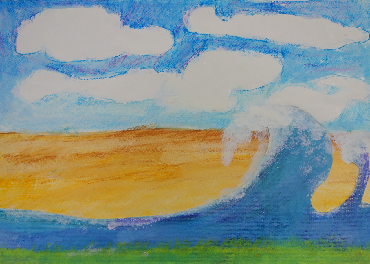 Wave painting by Alex age 7